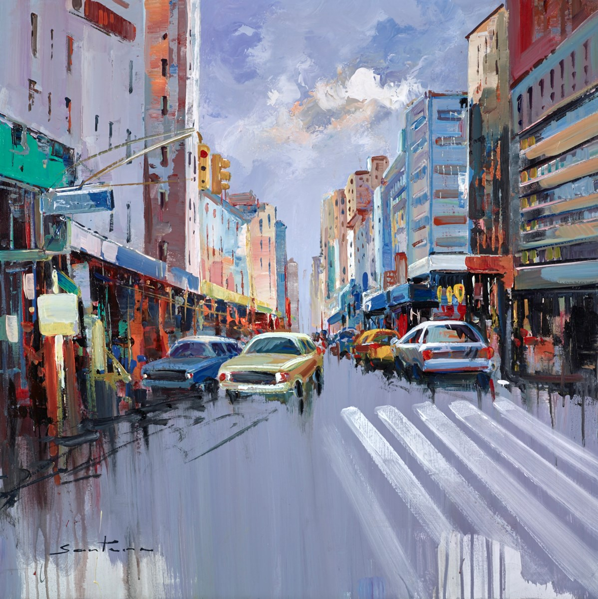 City Streets I by santana -  sized 32x32 inches. Available from Whitewall Galleries